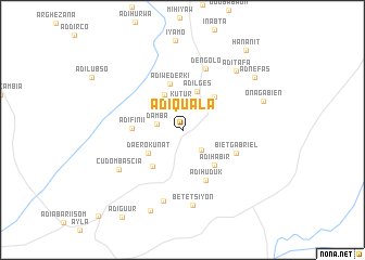 map of Ādī-Quala