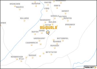 map of Ādī-Quala