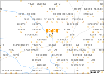 map of Adjan