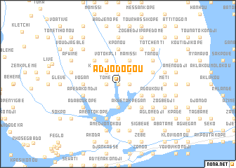 map of Adjodogou