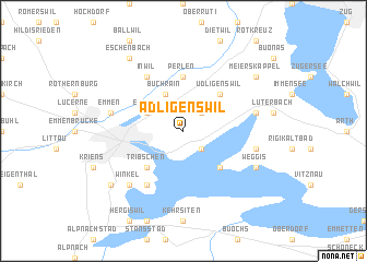 map of Adligenswil