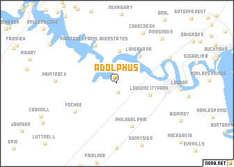 map of Adolphus