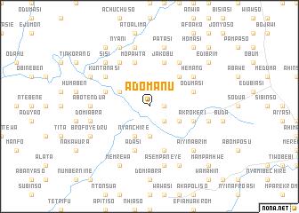 map of Adomanu