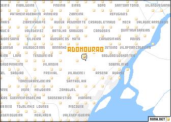 map of A do Mourão