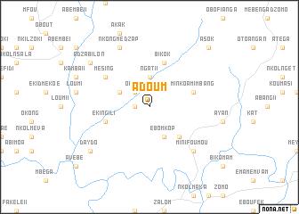 map of Adoum
