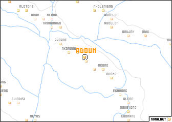 map of Adoum