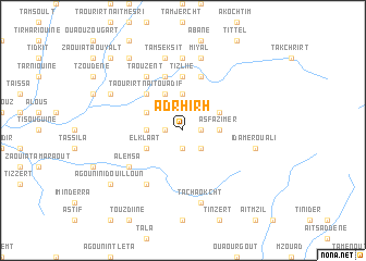 map of Adrhirh