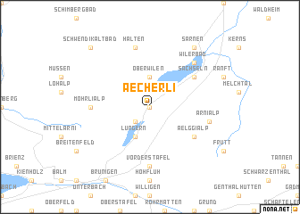 map of Aecherli