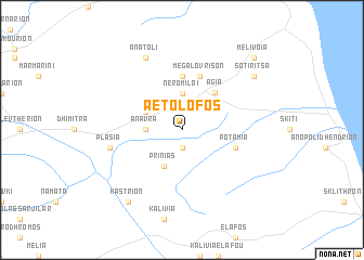 map of Aëtólofos