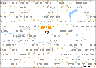 map of Affeln