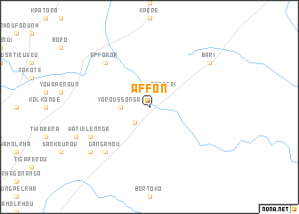 map of Affon