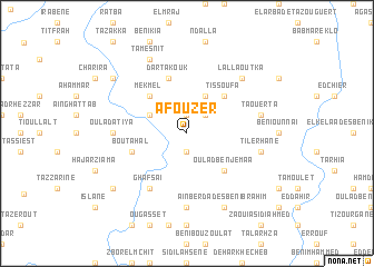 map of Afouzer