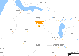 map of África