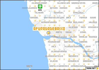 map of Afurada de Baixo