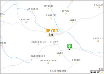 Afyon Turkey map nonanet