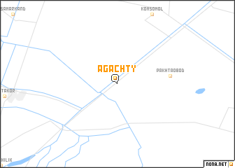 map of Agachty