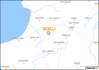 map of Ağaçlı
