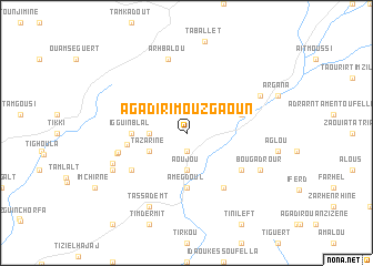 map of Agadir Imouzgaoun