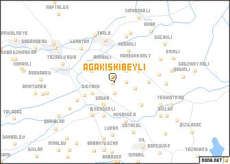 map of Agakishibeyli