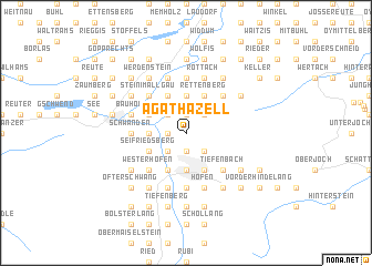 map of Agathazell