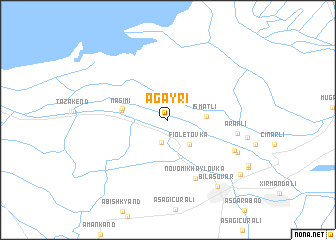 map of Ağayrı