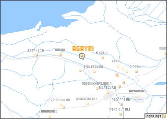 map of Ağayrı