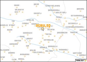 map of Ağbulaq
