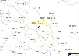 map of Ağcayazı