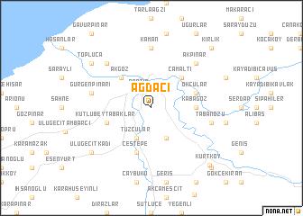 map of Ağdacı