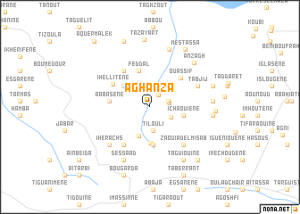 map of Aghanza
