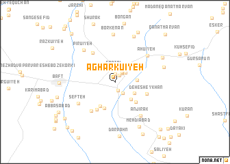 map of Agharkū\