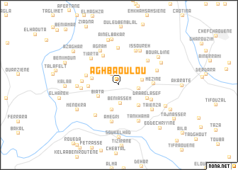 map of Aghbaoulou
