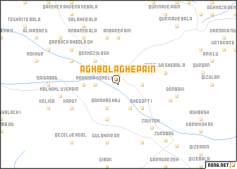 map of Āghbolāgh-e Pā\