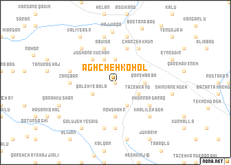 map of Āghcheh Kohol