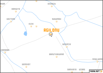 map of Ağılönü