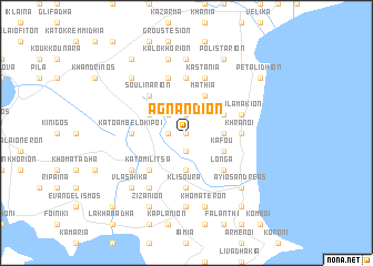map of Agnándion
