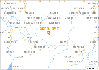 map of Ago Ojoye