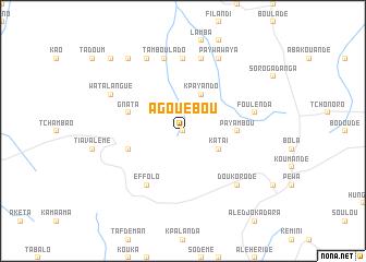 map of Agouébou