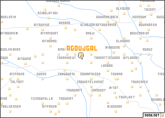 map of Agoujgal