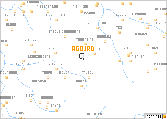 map of Agourd