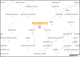 map of Agrimonte
