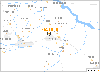 map of Ağstafa