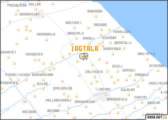 map of Ağtala
