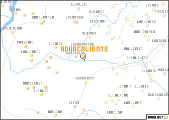 map of Agua Caliente