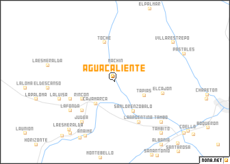 map of Aguacaliente