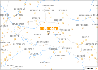 map of Aguacate