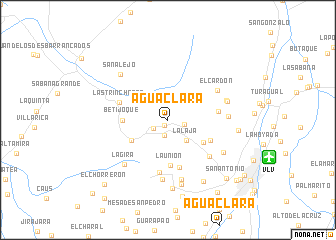 map of Agua Clara