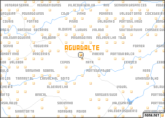 map of Água d' Alte