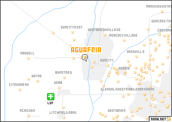 map of Agua Fria