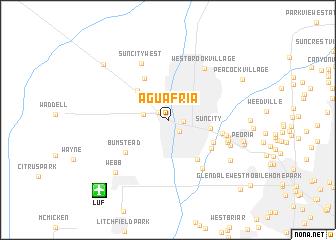 map of Agua Fria